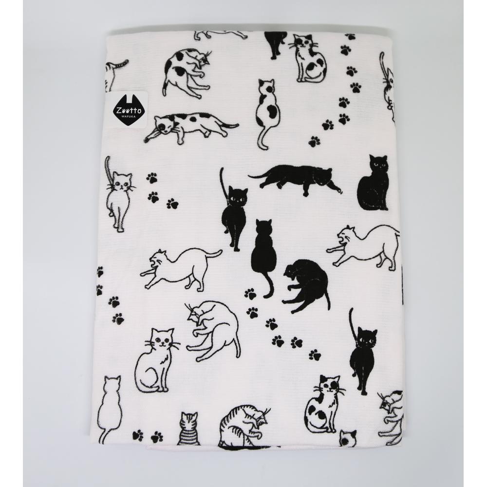 猫バスタオル(ネコがいっぱい)
