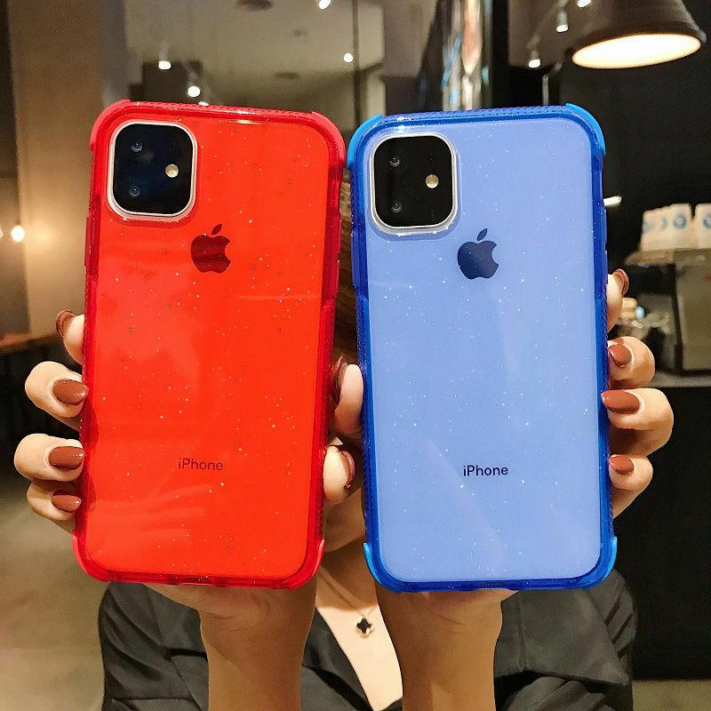 【お取り寄せ商品、送料無料】5カラー クリア シンプル ラメ ソフト iPhoneケース iPhone11