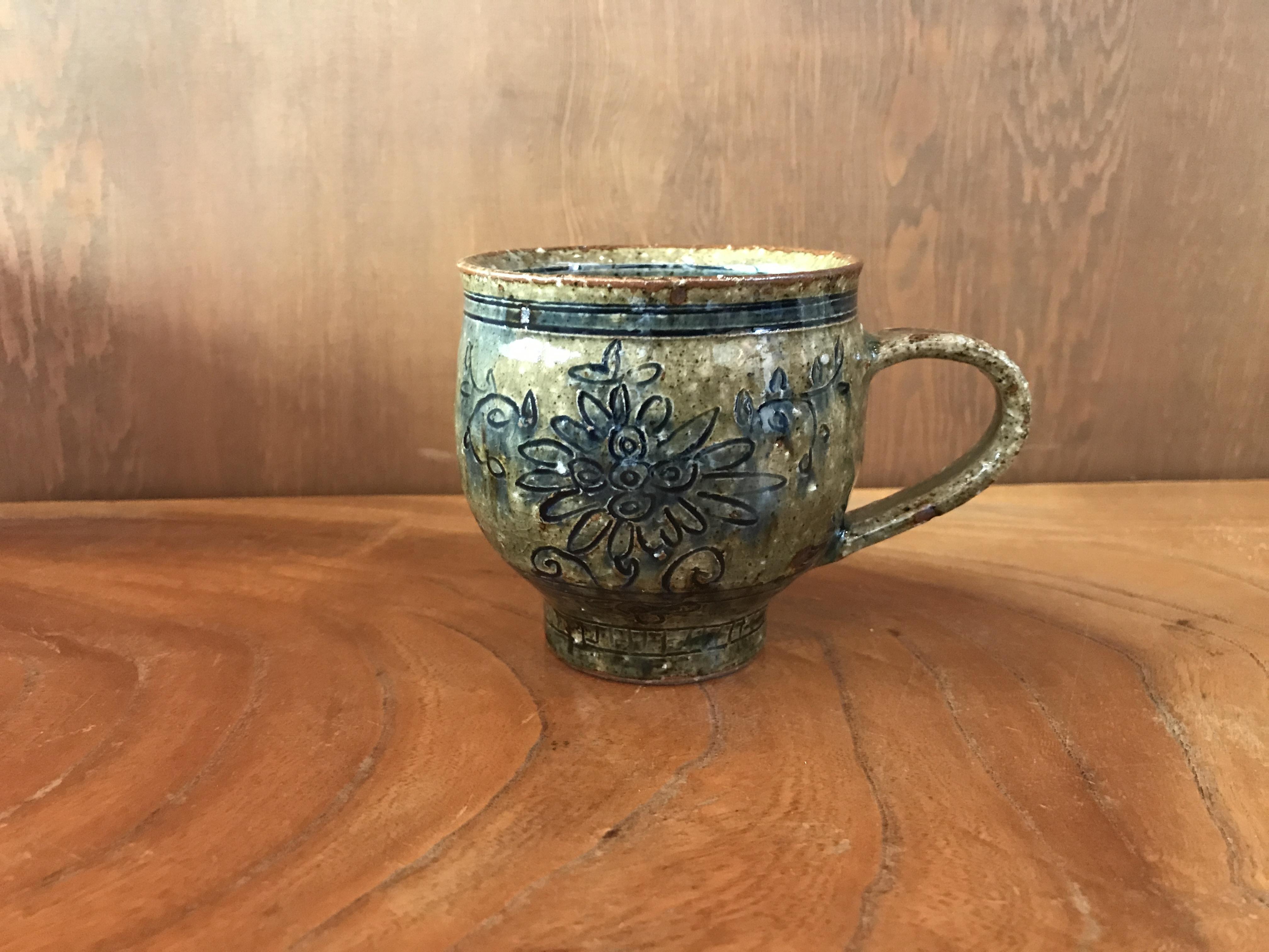 砥部焼 陶彩窯のコーヒーカップ
