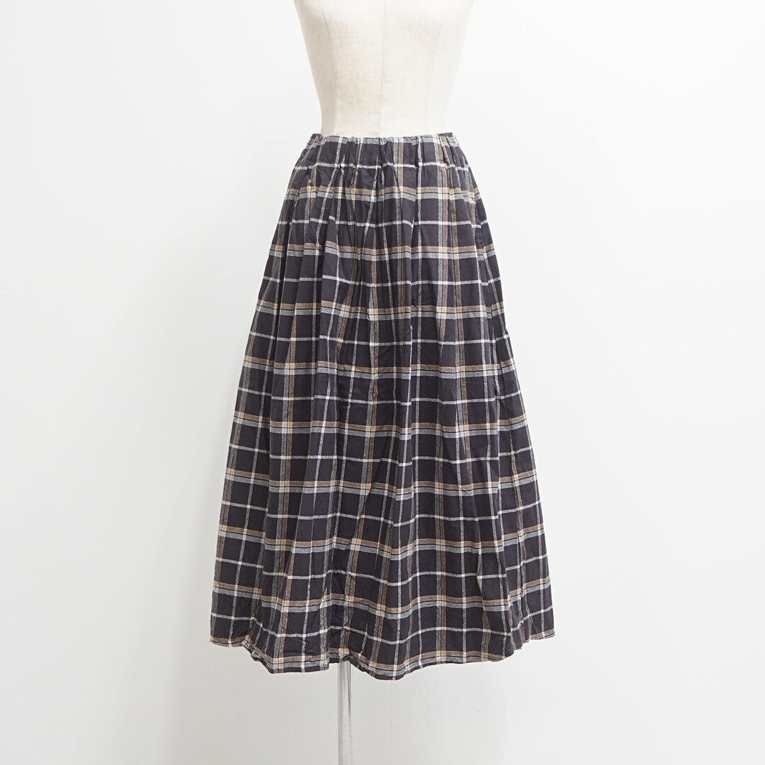 NARU ナル フランネル起毛チェックロングスカート (品番636805)