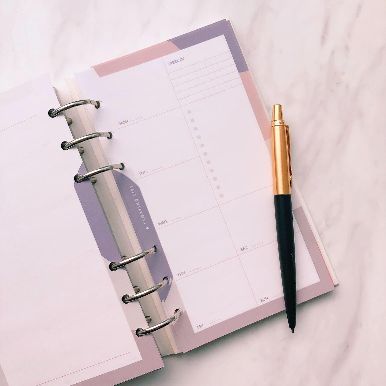 ウィークリー計画 / バイブル / グレーベージュ(システム手帳リフィル)