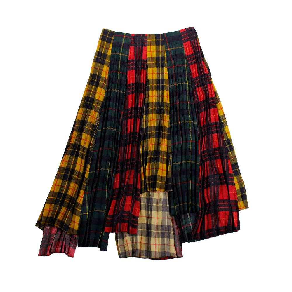 MONSE Check Skirt