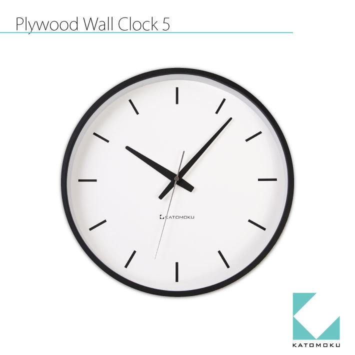 KATOMOKU plywood wall clock 5 km-49B
