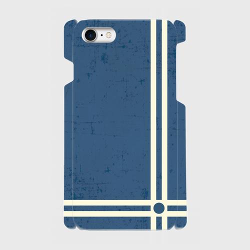 レトロストライプ(青) / iPhoneスマホケース(ハードケース)