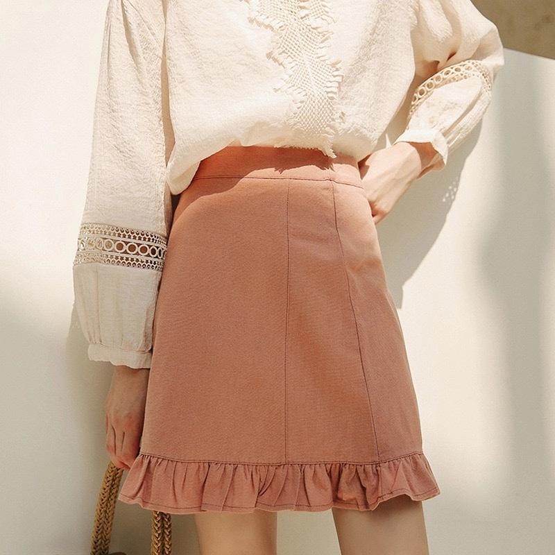 【即納】ハイウエストAラインスカート