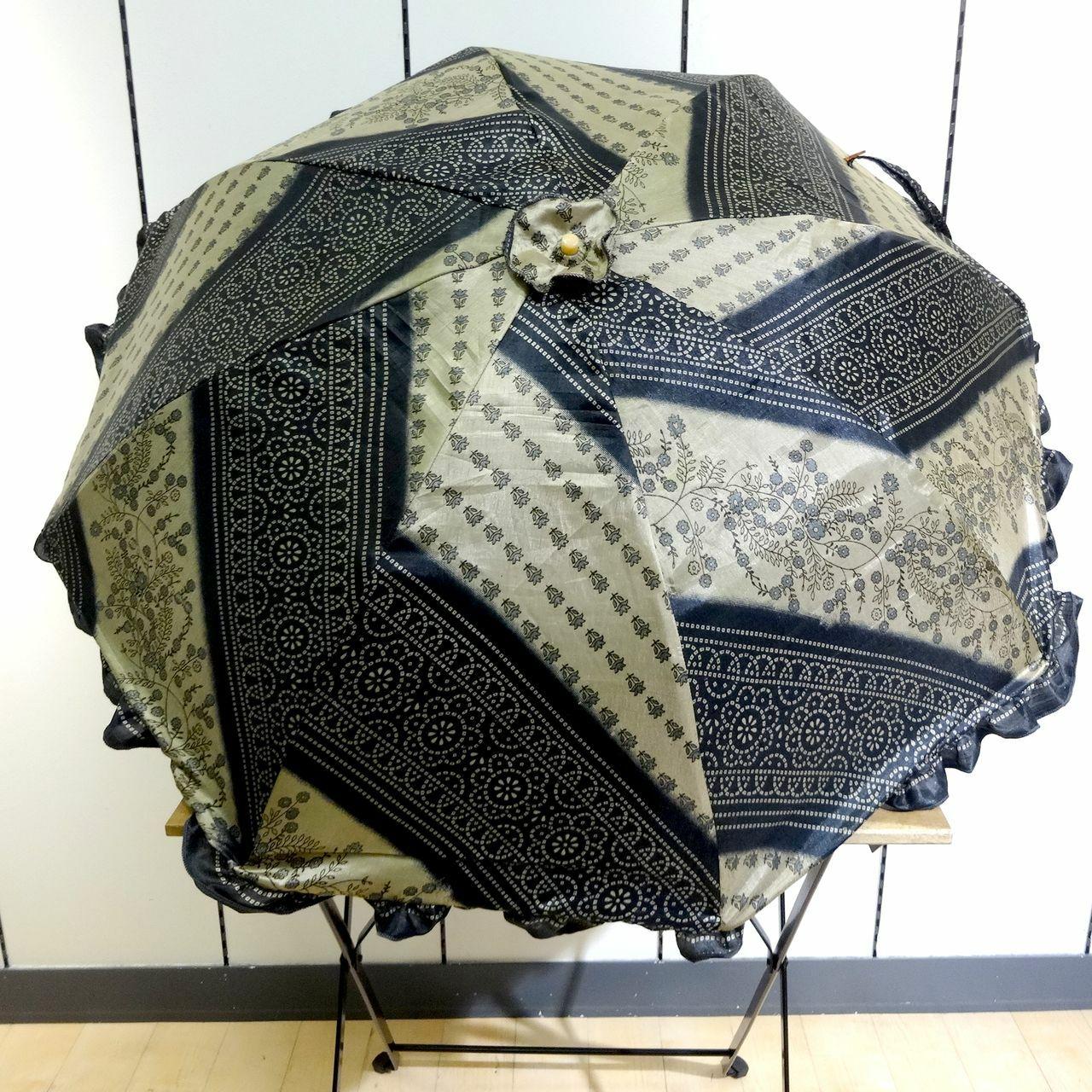 saripn-001 新型シルクサリーパラソル【令和】折畳傘本体バッグ付き