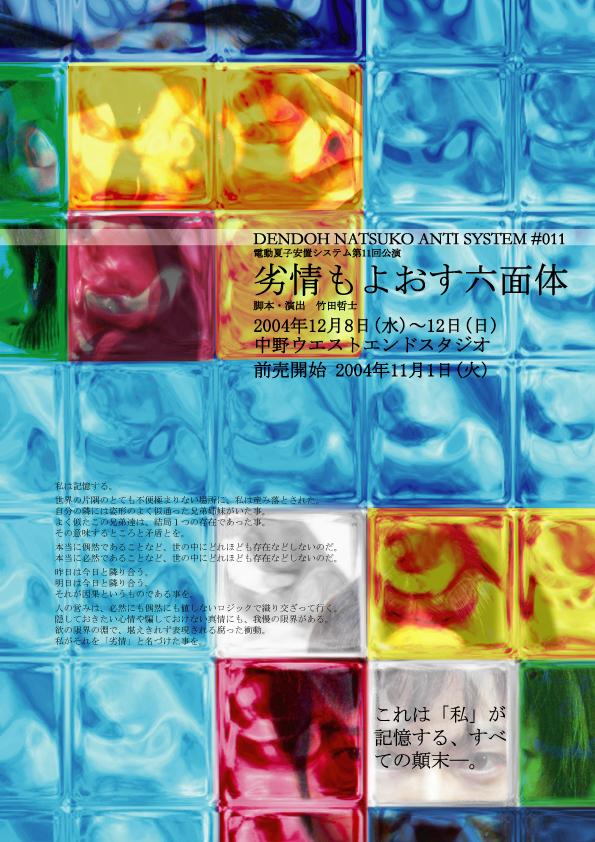 【NEW!!】DVD 第11回公演『劣情もよおす六面体』