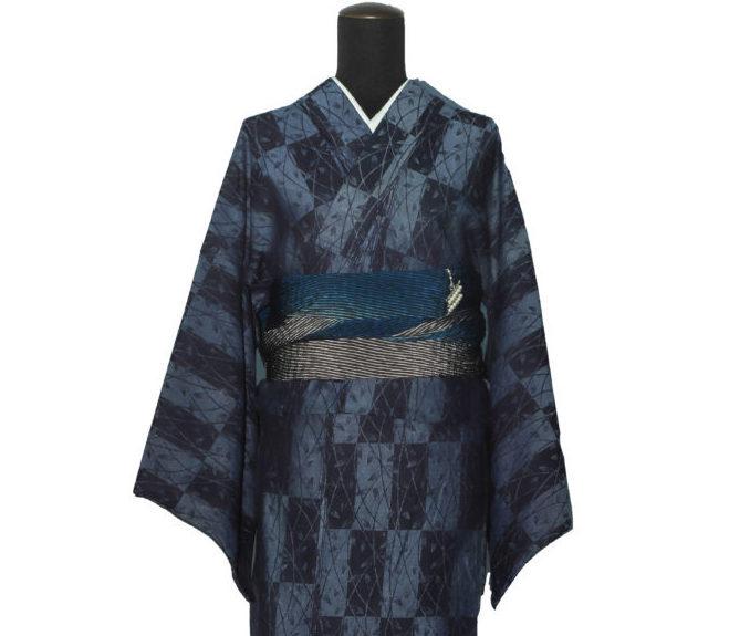 『どぼん染』-祇園格子