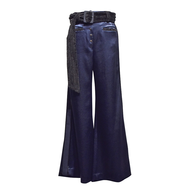 koll / crater satin pants / Blue