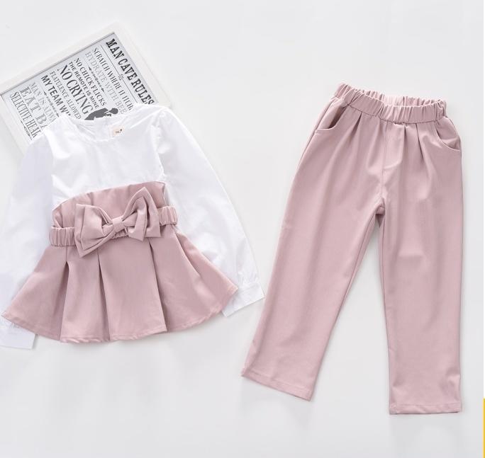 ff46e6c8f592c  春新商品☆彡セットアップ リボン 女の子 子供 キッズ  ピンク オレンジ グレー シフォン. welcome
