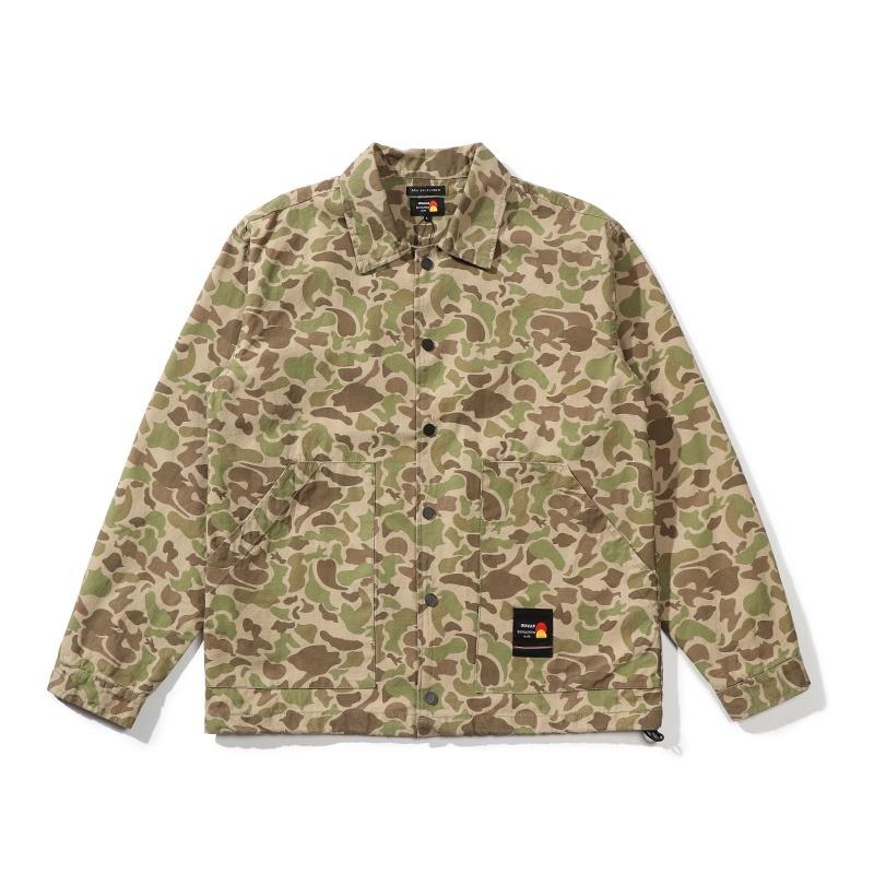 【UNISEX】ドロップ ショルダー シャツ ジャケット カモフラージュ UN-514