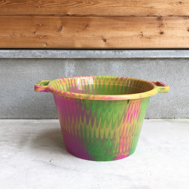 Africa Plastic marble pattern bucket アフリカ マーブル プラスチック バケツ12L