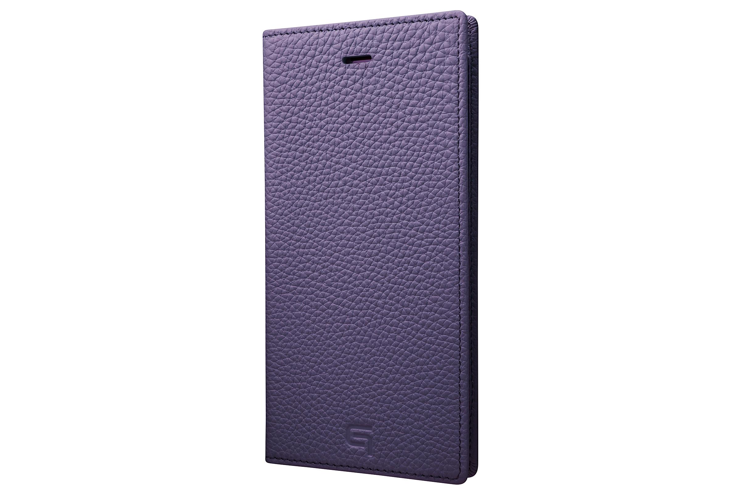 GRAMAS Shrunken-calf Full Leather Case for iPhone 7 Plus(Purple) シュランケンカーフ 手帳型フルレザーケース - 画像1