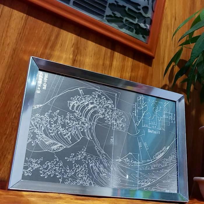 【デヂタル鋼鈑】 ~葛飾北斎~「富嶽三十六景」 / 金属画