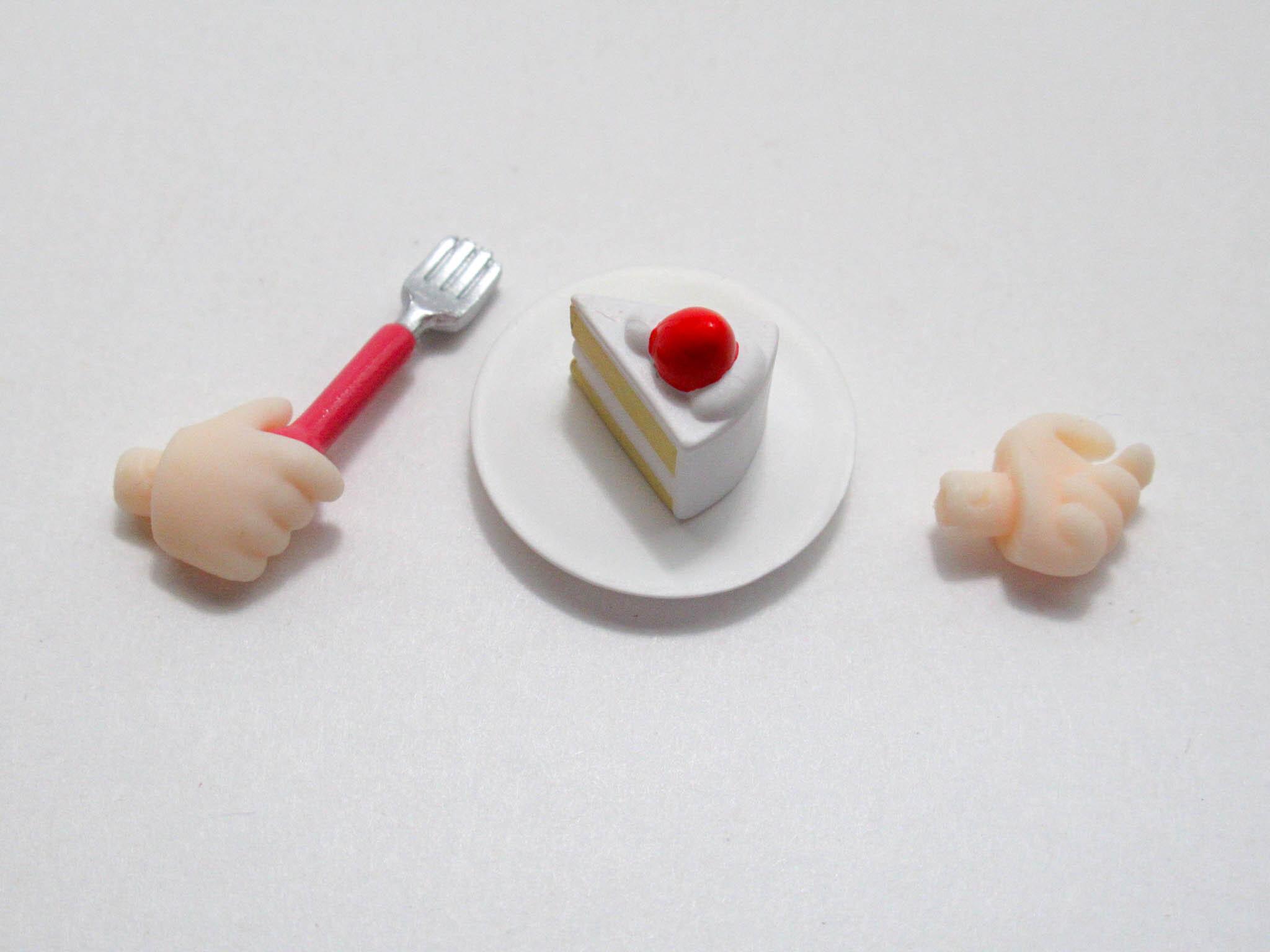 【1200】 L 2.0 小物パーツ ケーキとフォーク ねんどろいど