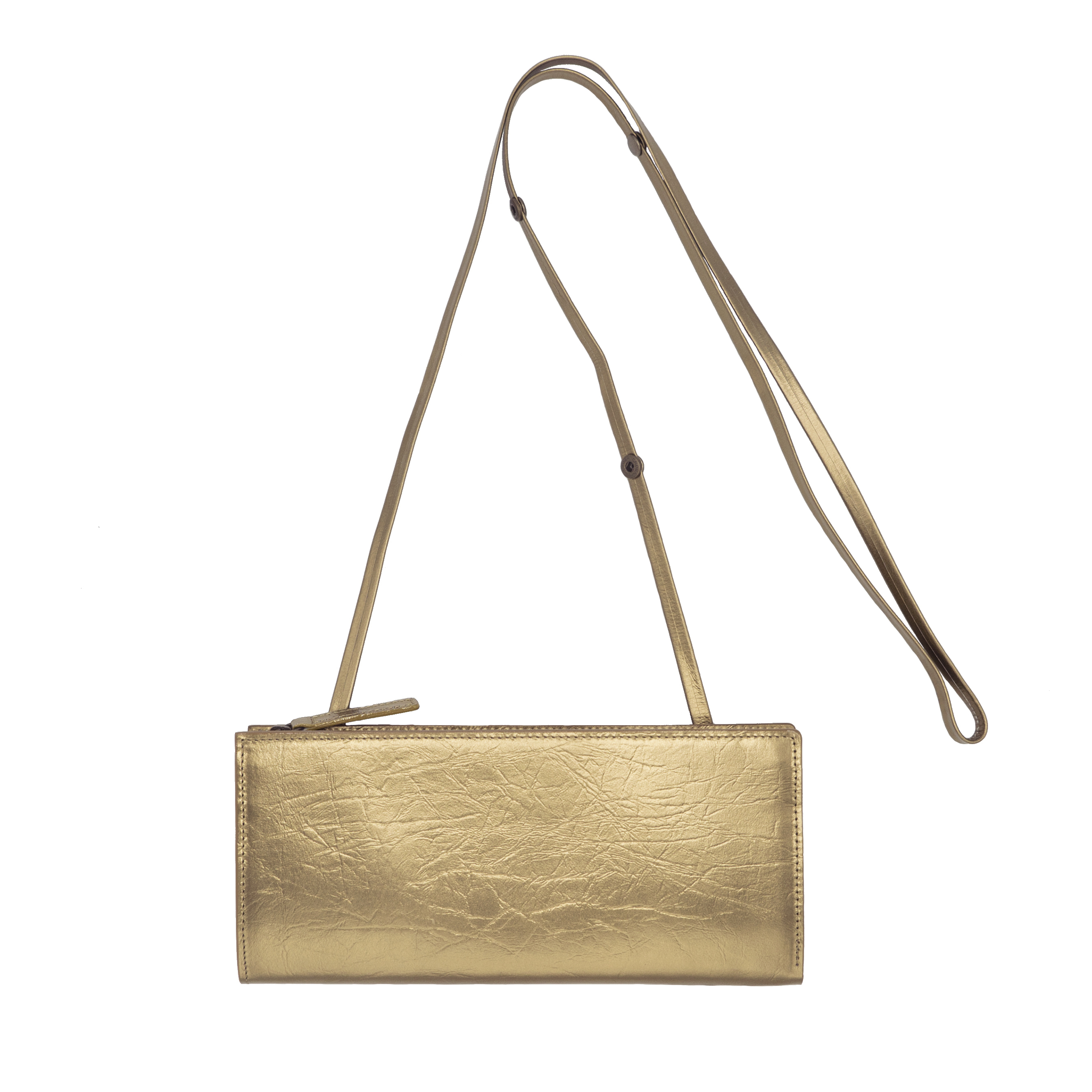 TIN BREATH Travel purse  Antique gold