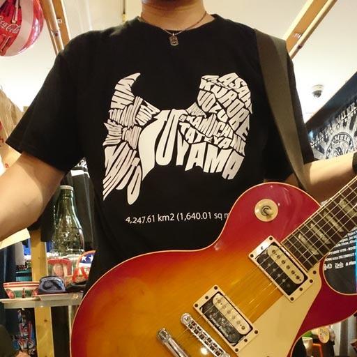 TOYAMA PREFECTURE Tシャツ 【富山県】 ブラック×ホワイト
