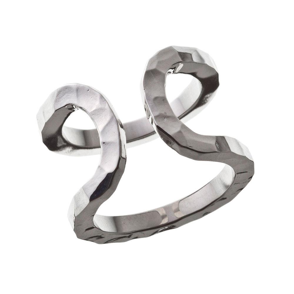Elenore Jewelry×ARTEMIS KINGS ダブルカフリング シルバーリング 15号~23号 AKELR0002