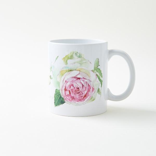 ピエール・ド・ロンサール 水彩マグカップ'(片面プリント)