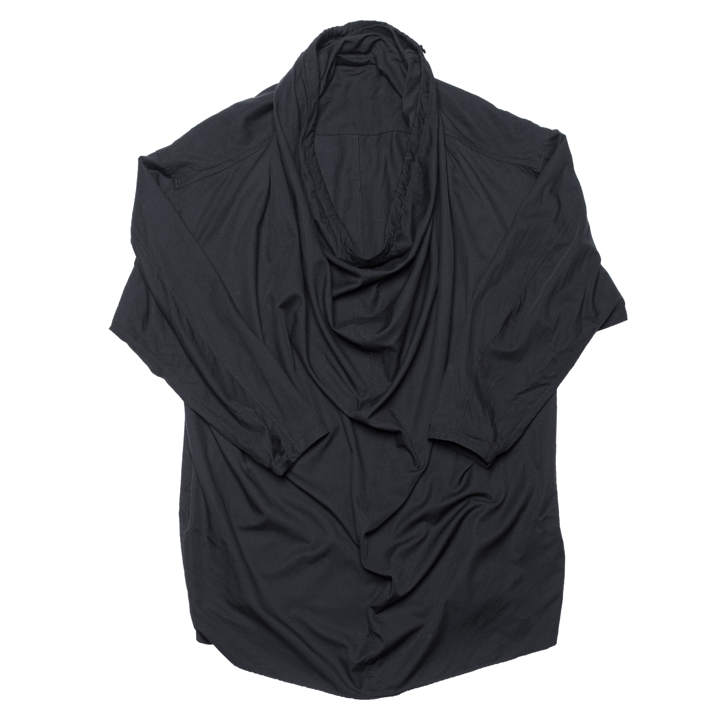 687SHM3-BLACK / ドレープネックシャツ