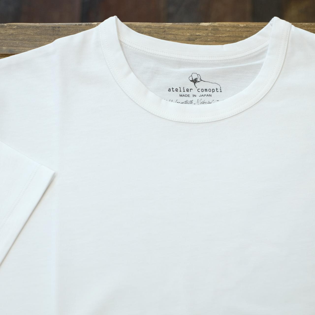 atelier comopti 究極のTシャツ ホワイト ステラ・コンフリクト天竺