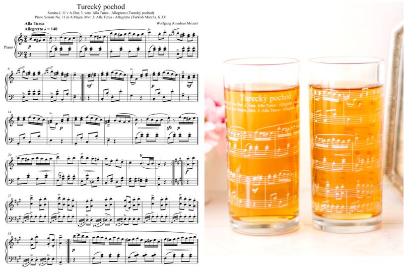 【ガラス用】楽譜転写紙 ホワイト