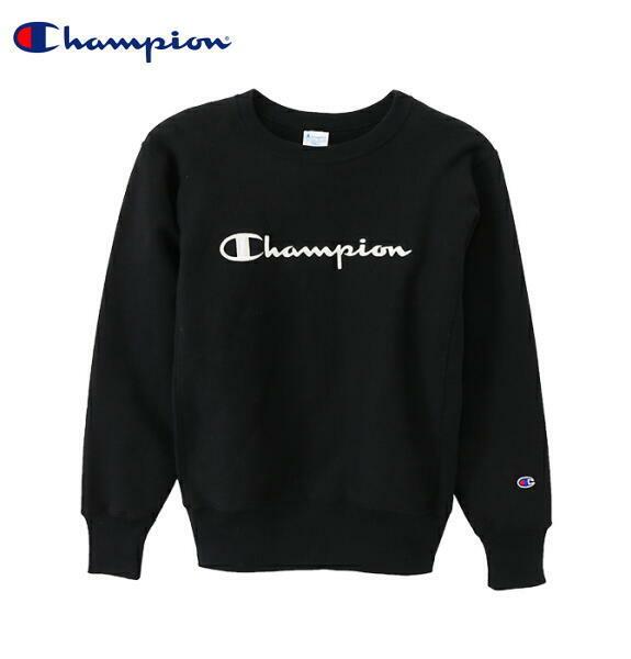 CHAMPION チャンピオン スウェット トレーナー リバースウィーブ プルオーバー ロゴ メンズ 正規販売店 C3-L007 ブラック