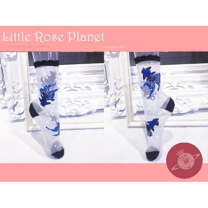 【Little Rose Planet】Crystal Goldfish 金魚柄シースルーソックス(BLUE)
