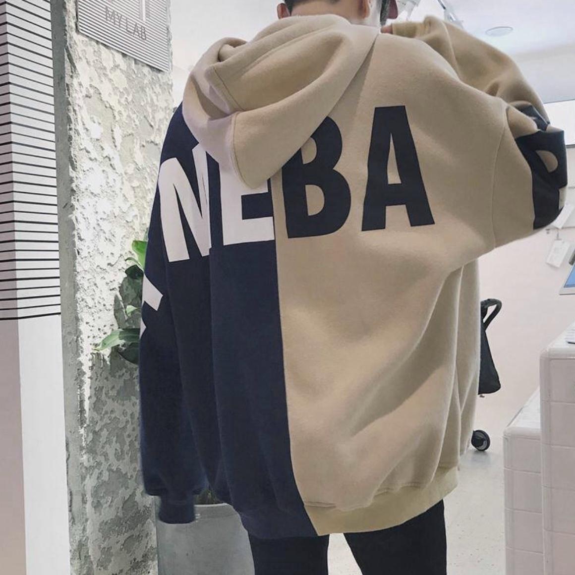 ビッグシルエット デザインロゴパーカー 韓国風 秋服