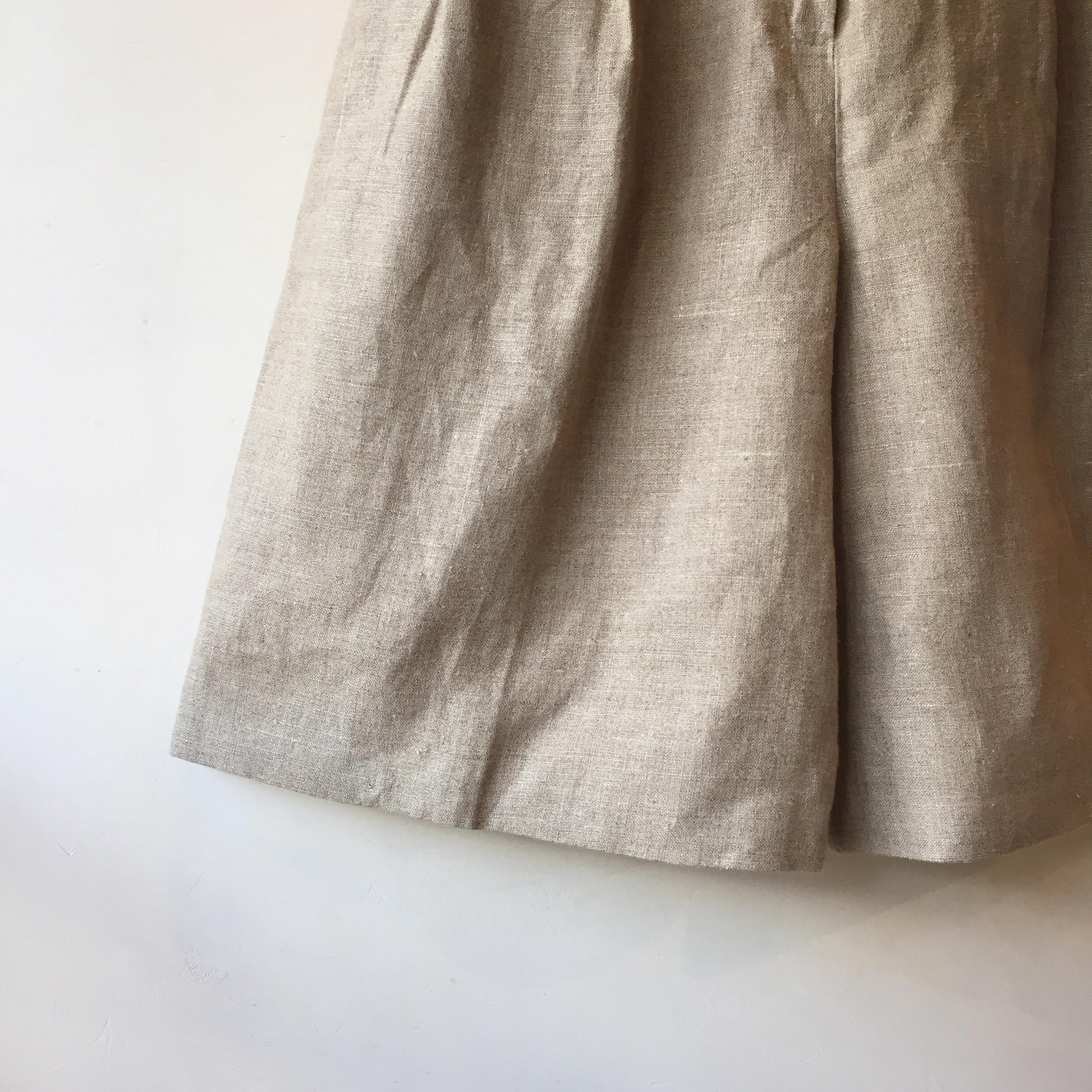 vintage linen half pants