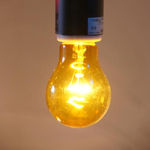 E26 40W 透明カラーランプ イエロー ※電球のみ