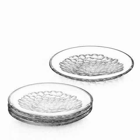 Orrefors オレフォス テーブルウェア ガラス食器 ラウンドプレート PEARL 4枚セット (6719788)