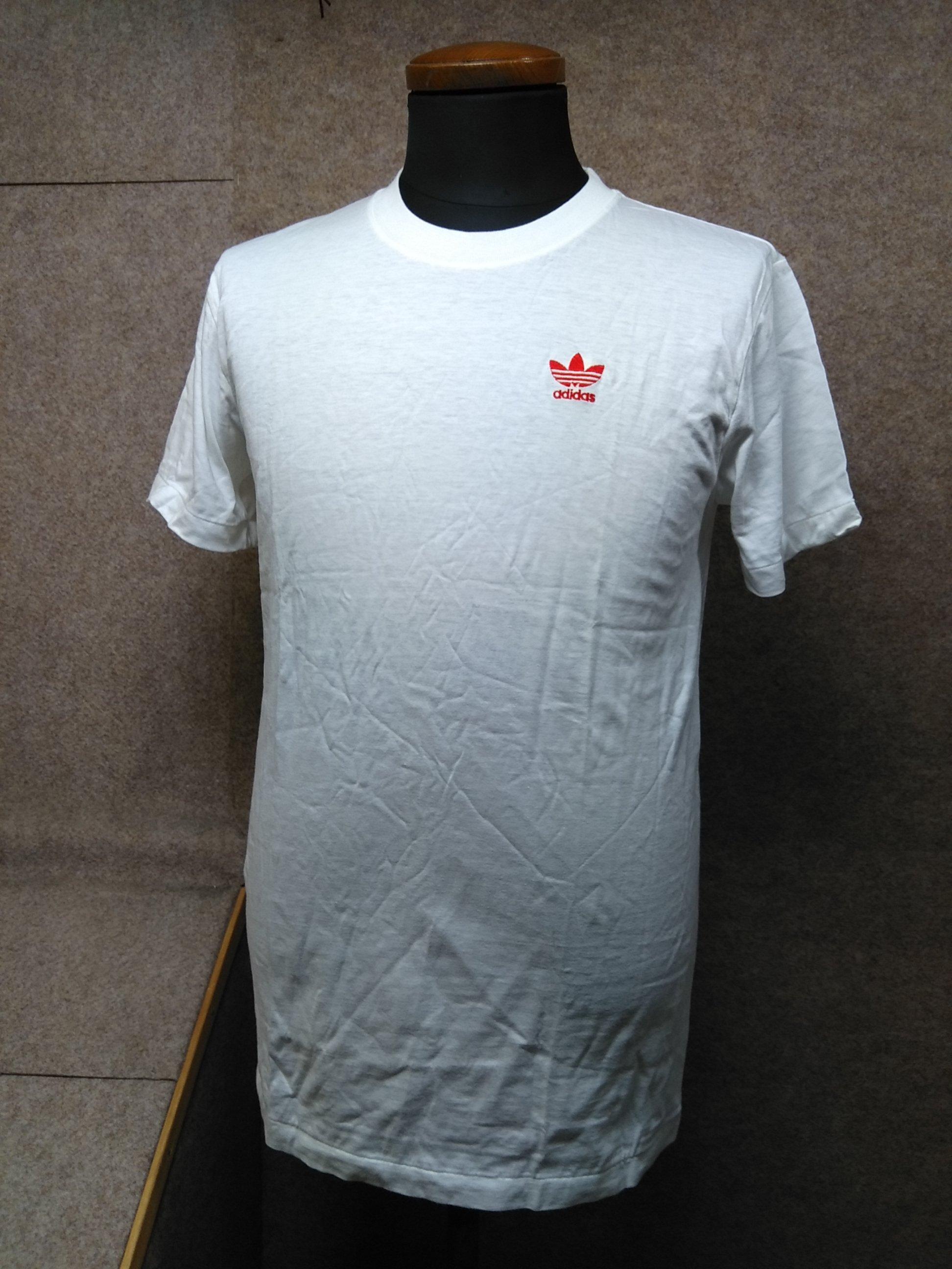 アディダス adidas Tシャツ 白 トレフォイル M mh815e