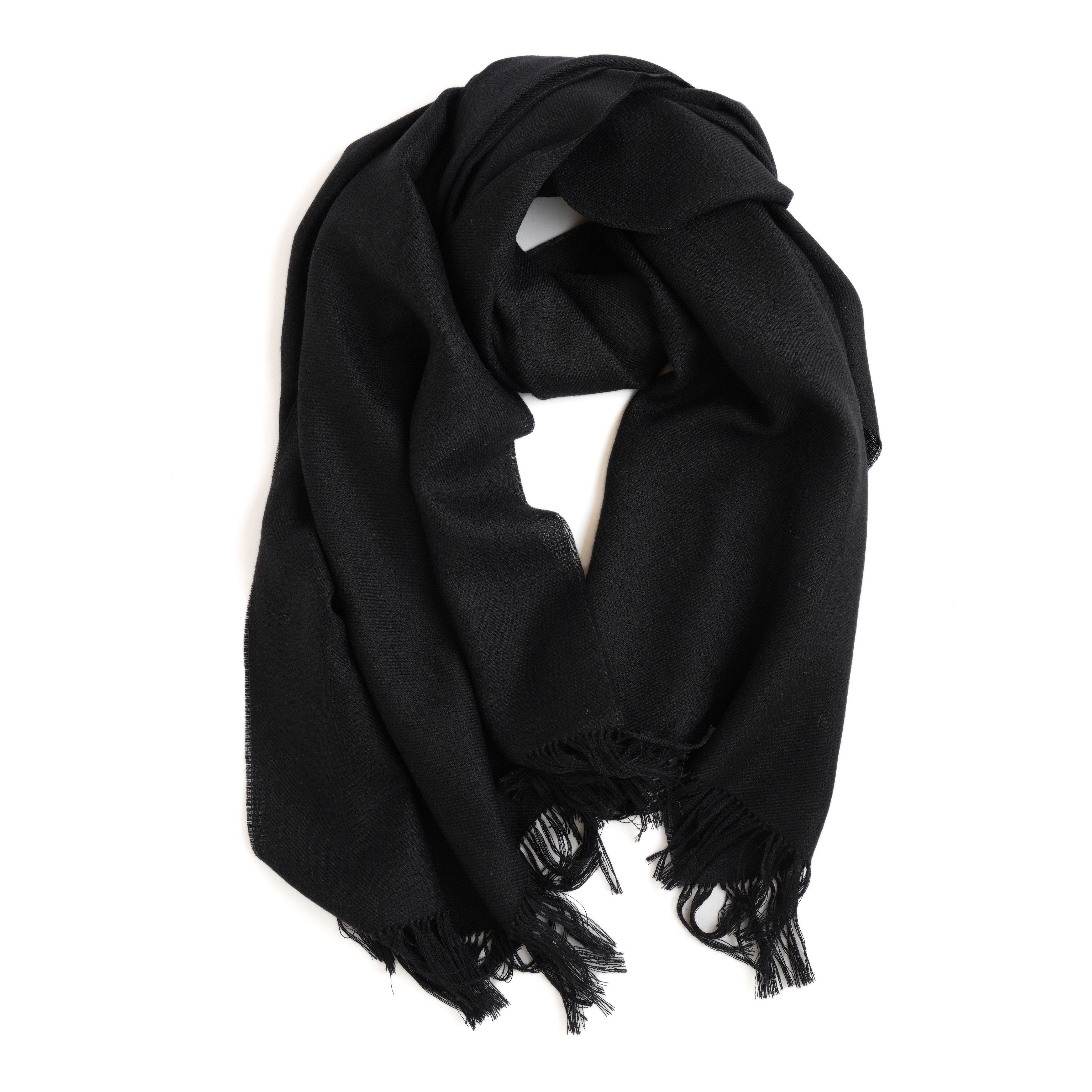 THE INOUE BROTHERS/Non Brushed Large Stole/Black