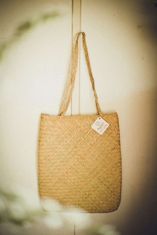 【規格外セール】水草のトートバッグ (大) エコバッグ 手編み