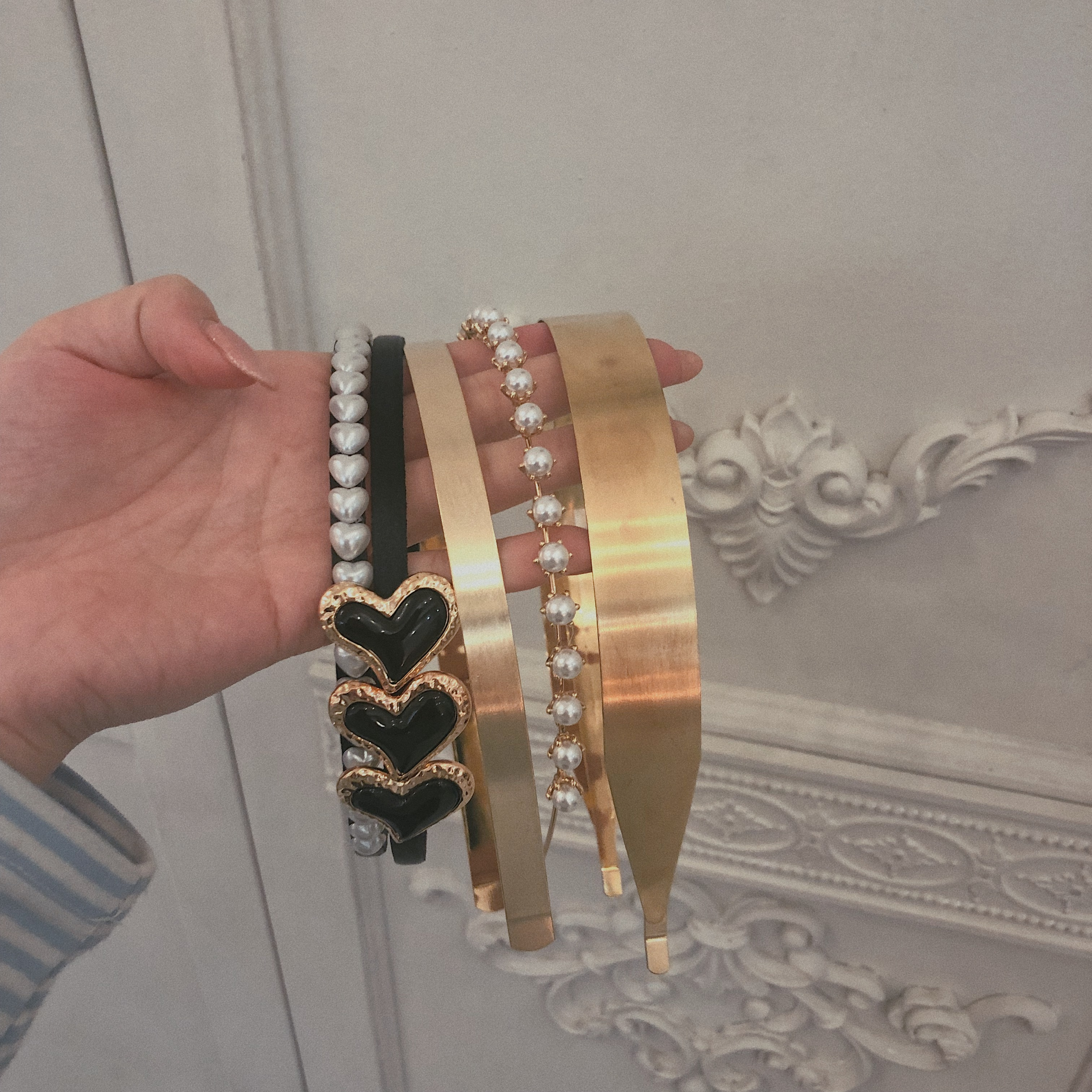 pearl hair band