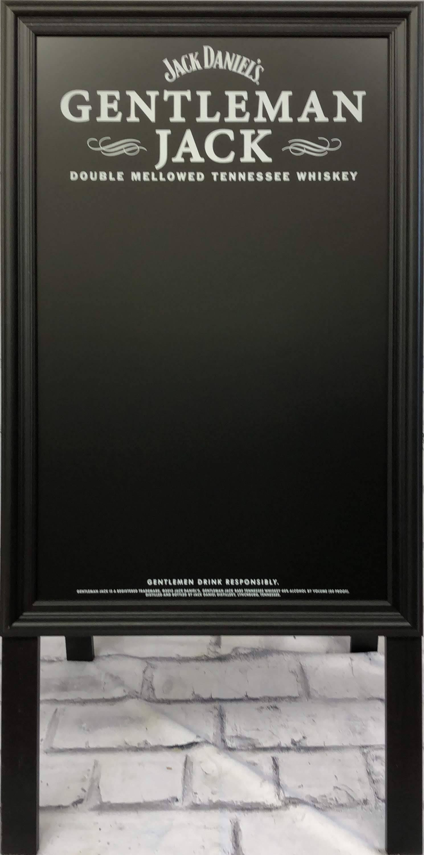 品番0514 サインボード 『GENTLEMAN JACK(ジェントルマン ジャック)』 スタンド 壁掛 看板 ブラック アメリカン雑貨