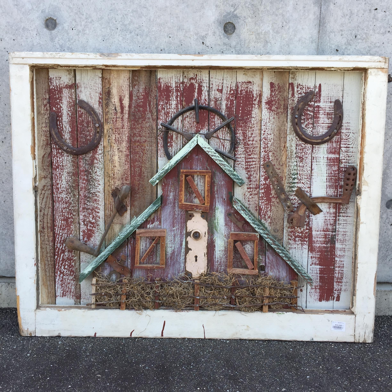 品番4576 木製 アート ウッドウォールアート アートボード ディスプレイ ヴィンテージ 011