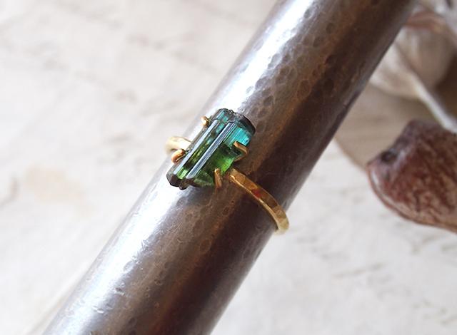 ricchi__様オーダー 原石のトルマリンのリング