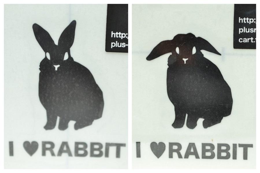 ステッカー小 I♥RABBIT