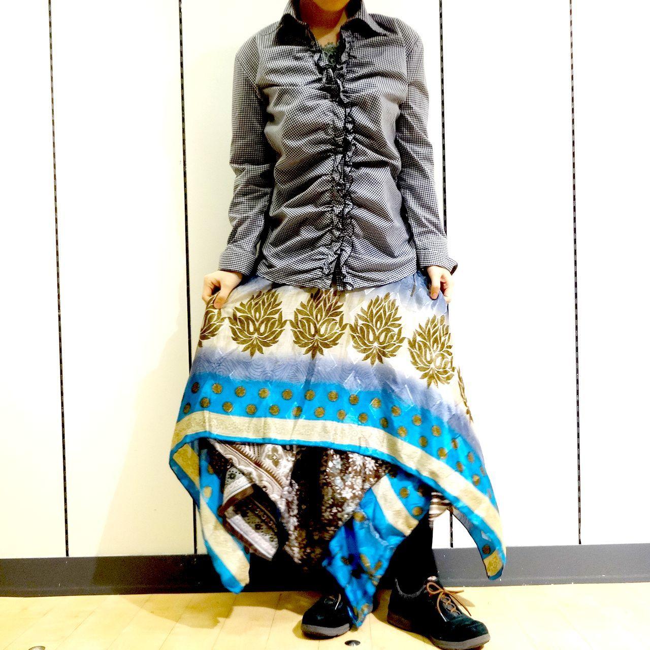 vdsz-012  ビンテージシルクサリーギザスカート「チャンドラマハール」