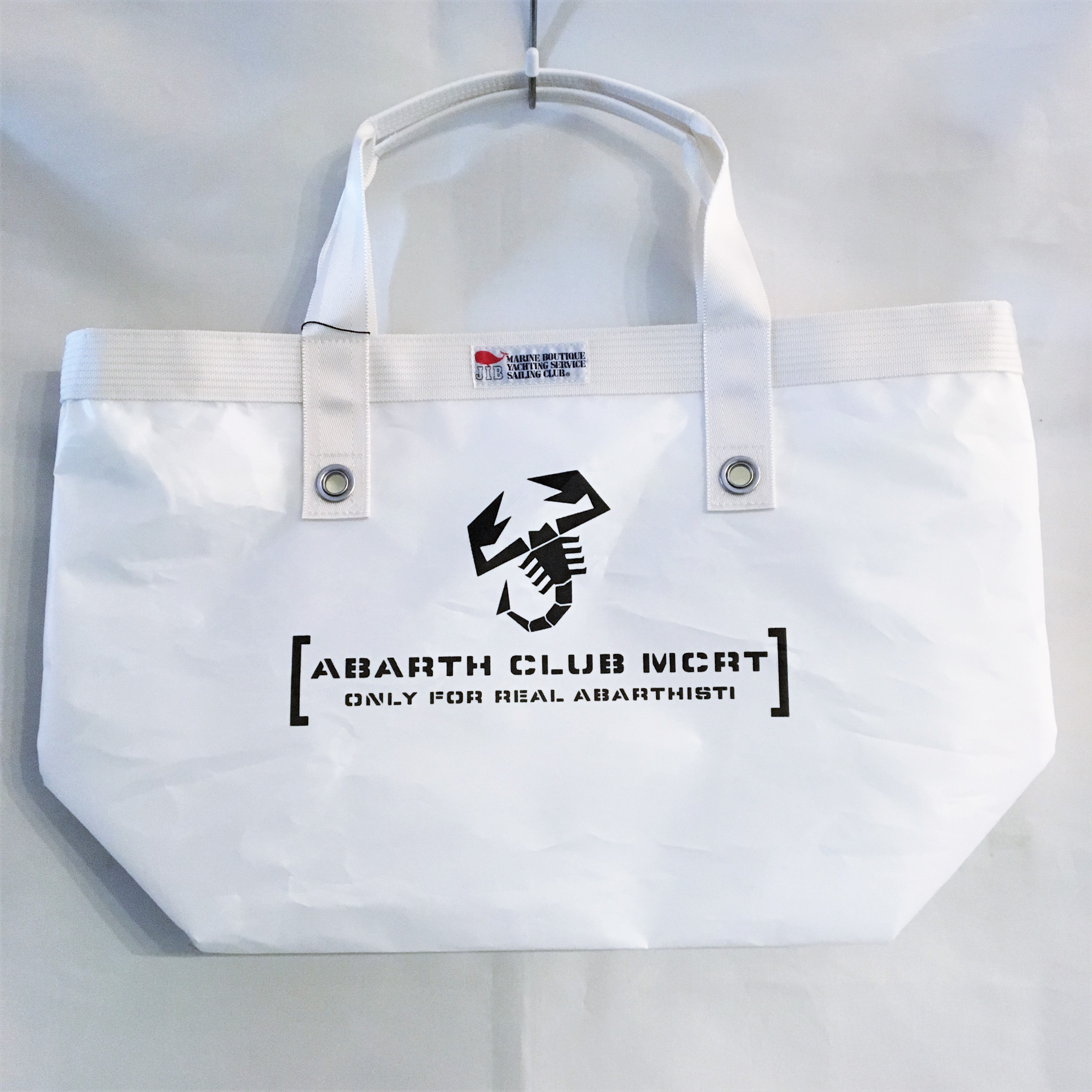【ABARTHCLUB MCRT】 Open Tote Inner Zip TFM73 【White】【少数入荷】  【会員様限定販売】 【税込価格】