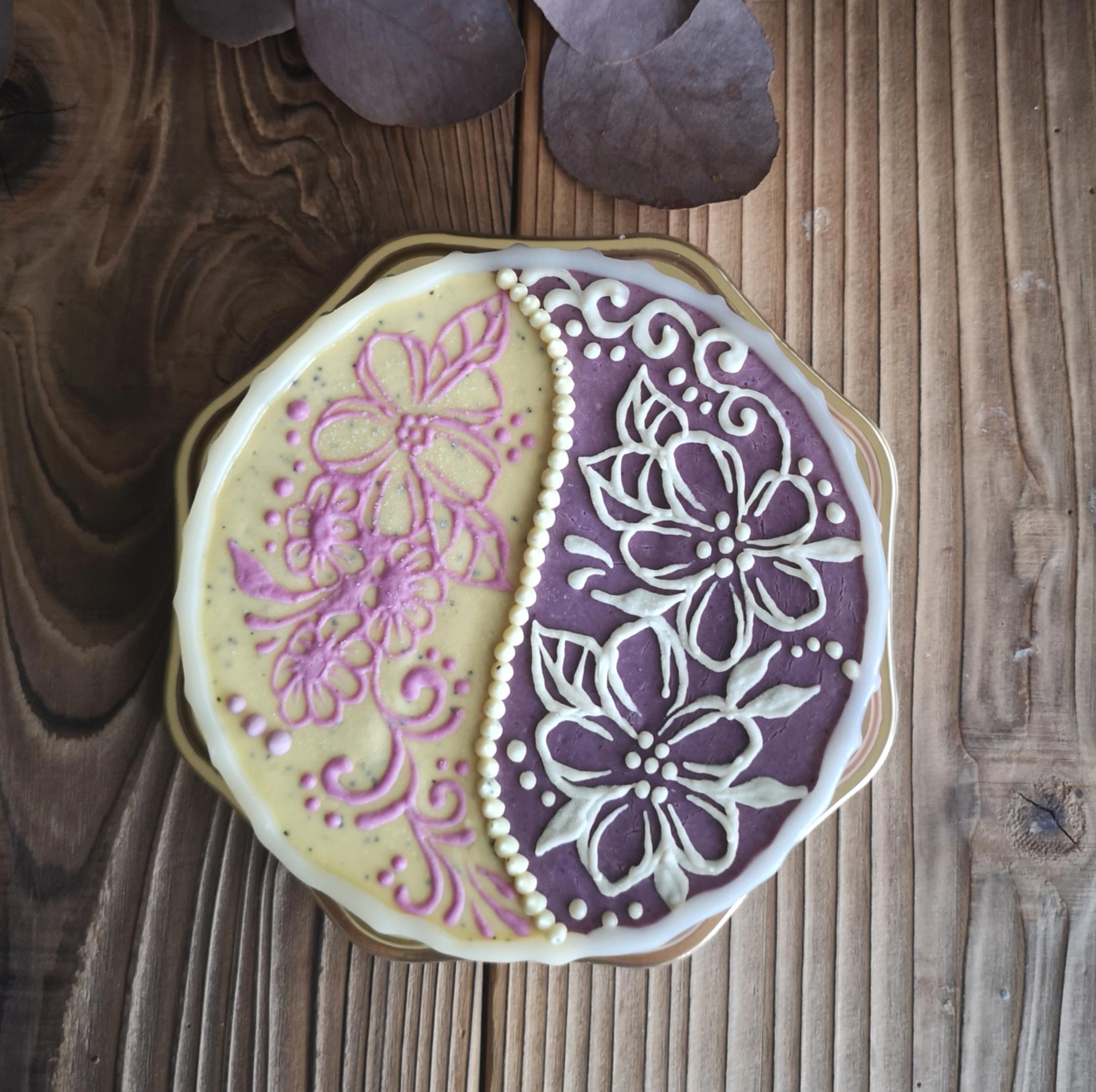 YIN & YANG Passionfriut & Blueberry Raw Cheese Cake  SSサイズ(12㎝ 約6名様分)