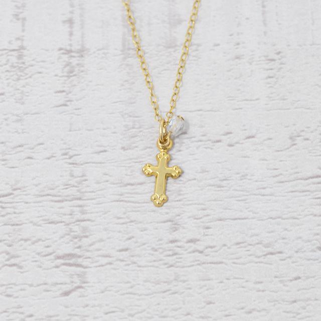 [k14gf]小さなクロスネックレス