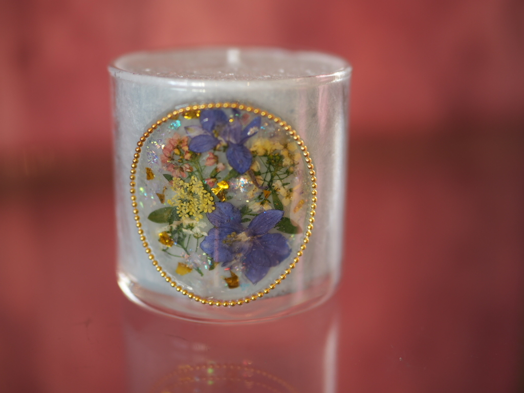 pressed  flowers  candle  2