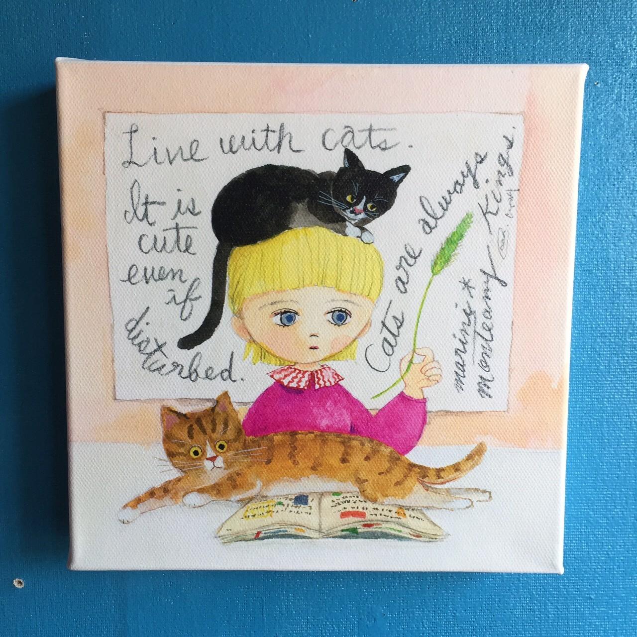 キャンバスプリント「Life with cats」