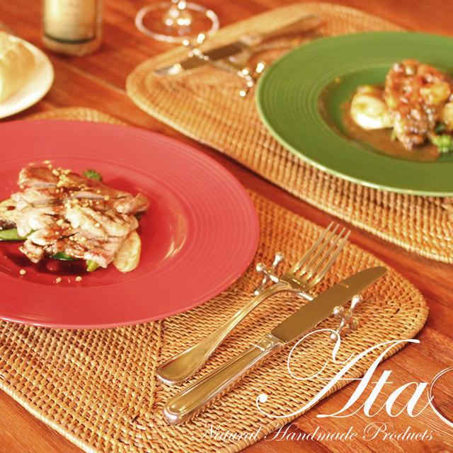 アタ製 優雅な食卓になるランチョンマット 2枚セット A07 (テーブルマット、ランチマット、敷物、トレイ)