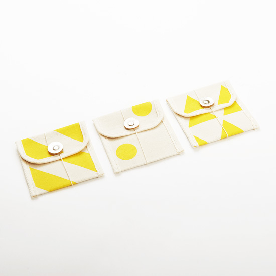 multi card case/dandelion x stripe, scale, dot マルチカードケース / 蒲公英 x 縞・鱗・水玉