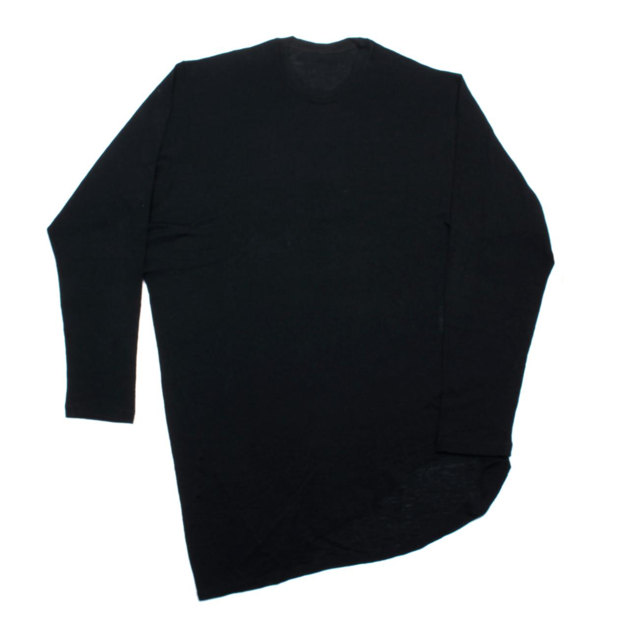 717KNM9-BLACK / ウールロングスリーブTシャツ