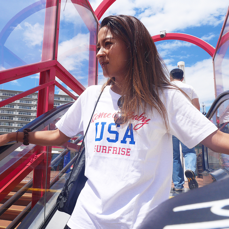 Come on baby USA Tee - White